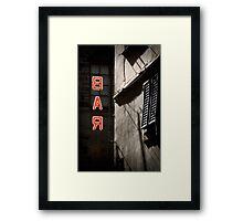 Bar Framed Print