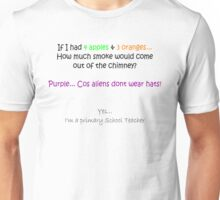 Purple... Cos aliens don't wear hats! Unisex T-Shirt