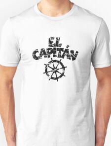 El Capitán Wheel Vintage (Black) Unisex T-Shirt