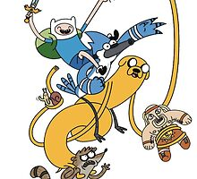 Adventure Time - Regular Show by NiroStreetLourd
