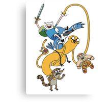 Adventure Time - Regular Show Canvas Print