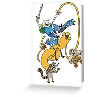 Adventure Time - Regular Show Greeting Card