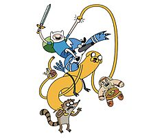 Adventure Time - Regular Show Photographic Print