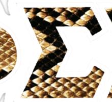 Phi Sigma Sigma Snakeskin Letters Sticker
