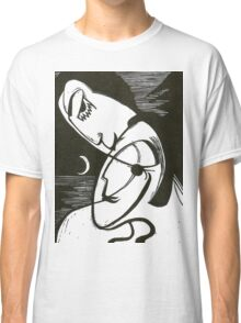 The Kiss At Moonlight With Ocean Classic T-Shirt