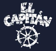 El Capitán Wheel Vintage White T-Shirt