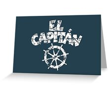 El Capitán Wheel Vintage White Greeting Card