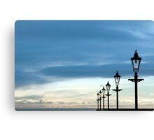 row of vintage lamps Canvas Print