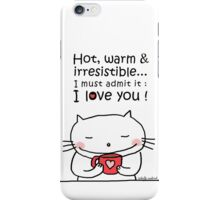 Coffee ... be my Valentine / Cat doodle iPhone Case/Skin