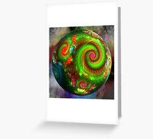Planet Fractalia Greeting Card