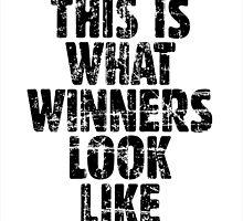 THIS IS WHAT WINNERS LOOK LIKE (Vintage Black) by theshirtshops