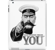 World War one, Lord Kitchener, WW1, Your Country needs you! iPad Case/Skin