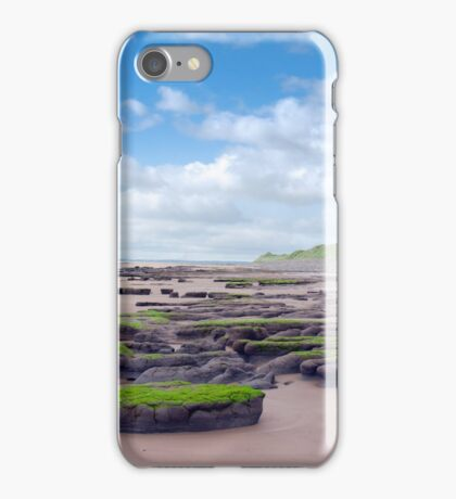 slimey green mud banks at Beal beach iPhone Case/Skin