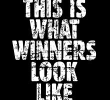 THIS IS WHAT WINNERS LOOK LIKE (Vintage White) by theshirtshops