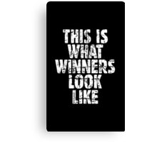 THIS IS WHAT WINNERS LOOK LIKE (Vintage White) Canvas Print
