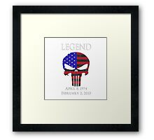 RIP Chris Kyle Framed Print