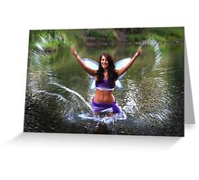 Splashing Fairy Greeting Card