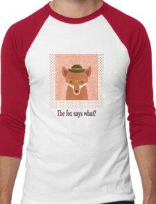 The Fox Says What Men's Baseball ¾ T-Shirt