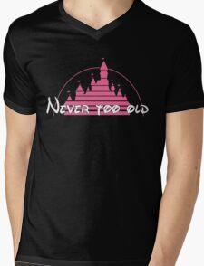 Never too old PINK Mens V-Neck T-Shirt