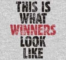 THIS IS WHAT WINNERS LOOK LIKE (Vintage Black/Red) One Piece - Long Sleeve
