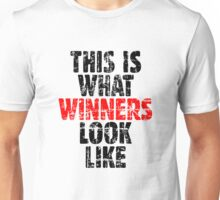 THIS IS WHAT WINNERS LOOK LIKE (Vintage Black/Red) Unisex T-Shirt