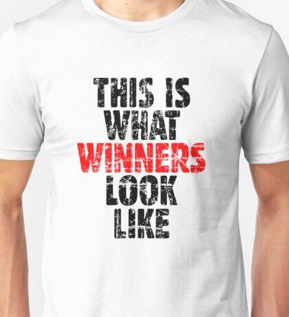 THIS IS WHAT WINNERS LOOK LIKE (Vintage Black/Red) Unisex T-Shirt