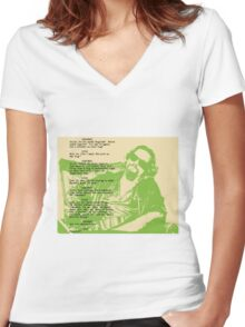 his dudeness Women's Fitted V-Neck T-Shirt