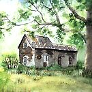 Old Oxford Farmhouse by LinFrye