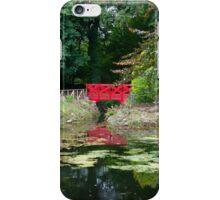 small red pond bridge iPhone Case/Skin
