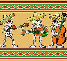 los músicos de los muertos by SquareDog