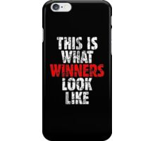 THIS IS WHAT WINNERS LOOK LIKE (Vintage White/Red) iPhone Case/Skin