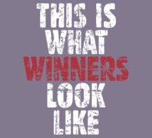 THIS IS WHAT WINNERS LOOK LIKE (Vintage White/Red) Kids Tee