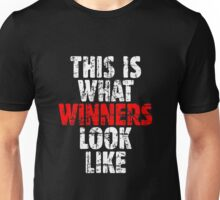 THIS IS WHAT WINNERS LOOK LIKE (Vintage White/Red) Unisex T-Shirt