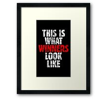 THIS IS WHAT WINNERS LOOK LIKE (Vintage White/Red) Framed Print