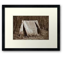 Miners tent Framed Print