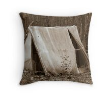 Miners tent Throw Pillow