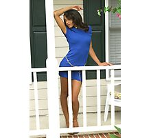 Devil in a blue dress Photographic Print