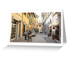 Early Morning Street Scene - Florence,  Italy  Greeting Card
