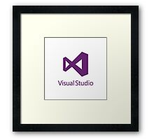 Visual Studio 2012 Logo (Purple) Framed Print