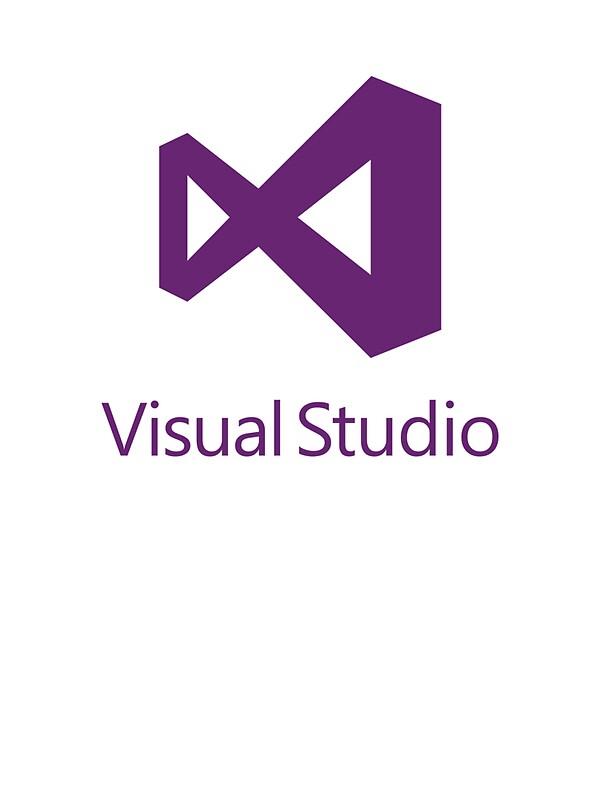 quotvisual studio 2012 logo purplequot stickers by theuntitled
