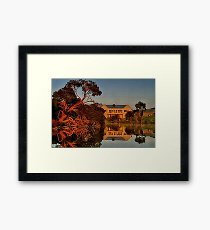 """Morning Reflections at The Minya Winery"" Framed Print"