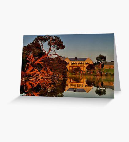 """""""Morning Reflections at The Minya Winery"""" Greeting Card"""