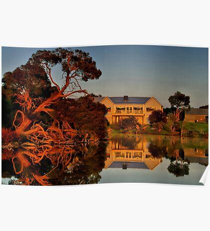 """Morning Reflections at The Minya Winery"" Poster"