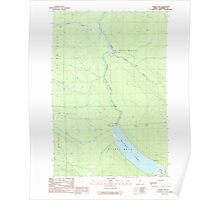Maine USGS Historical Map Baker Lake 104887 1989 24000 Poster