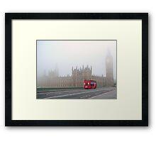 Red London Bus Framed Print