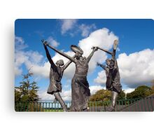 statues of the children of lir  Canvas Print
