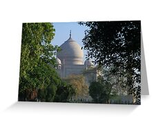 The Taj amongst the trees. Greeting Card