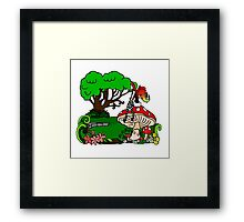Magical Forest with Faerie Framed Print