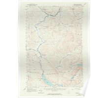 Maine USGS Historical Map Baker Lake 306450 1962 62500 Poster
