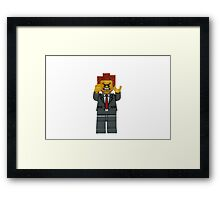 LEGO President Business Framed Print